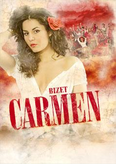 Affiche van één van de vele producties van Carmen.