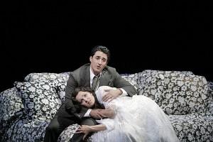 Charles Castronovo en Anna Netrebko in La Traviata (foto: Cory Weaver).