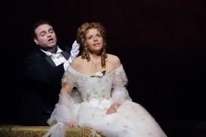 Joseph Calleja en Renée Fleming (foto: Catherine Ashmore / Royal Opera House).