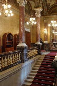 Interieur van het operahuis in Boedapest.