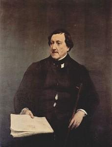 Portret van Rossini, gemaakt door Francesco Hayez.