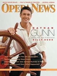 Gunn op de cover van Opera News.