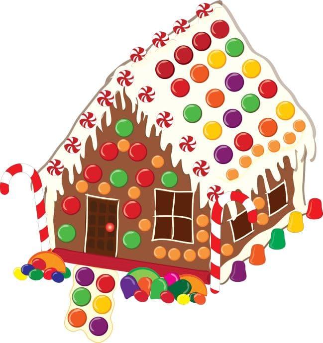 Gingerbread house clip art borders