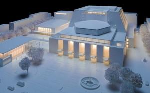 Zo moet het gerenoveerde operahuis van Köln er uit gaan zien.