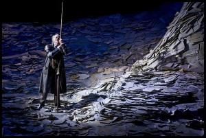 Scène uit Don Quichotte, één van de opera's die op het strand worden uitgezonden (foto: Johan Jacobs).