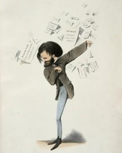 Karikatuur van Verdi uit 1860.