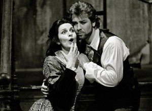 Angela Gheorghiu en Roberto Alagna in John Copleys La bohème, Covent Garden, 1992 (foto: Royal Opera House).