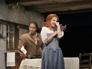 Joyce DiDonato als Elena en Lawrence Brownlee als Uberto (foto: Ken Howard).
