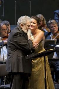 Plácido Domingo en Anna Netrebko in Giovanna d'Arco in Salzburg (foto: Silvia Lelli).