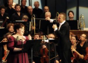 Yannick Nézet-Séguin met sopraan Heidi Melton, die net als de maestro lovende kritieken kreeg (foto: Christina Alonso).