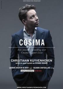 Christiaan Kuyvenhoven op een flyer van Cosima (foto: Allard Willemse).