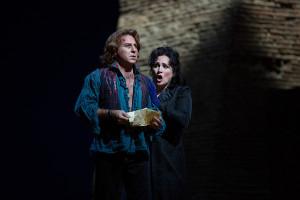 Roberto Alagna en Patricia Racette in Tosca (foto: Marty Sohl / Metropolitan Opera).