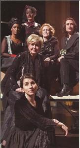 De cast van Klaagliedjes.