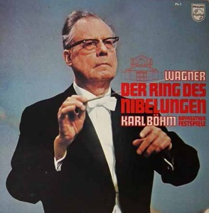 Karl Böhms op de cover van zijn live-opname uit Bayreuth.