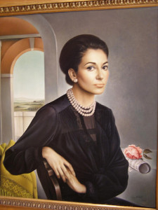 Schilderij van Maria Callas in het Museo Teatrale alla Scala (foto: magro_kr / flickr.com).