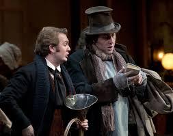 Bariton Thomas Oliemans (links) als Schaunard bij het Royal Opera House in Londen, mei 2012. Oliemans is één van de genomineerden voor de Schaunard Award 2013 (foto: Bill Cooper / Royal Opera House).