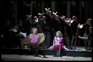 Scène uit Die Zauberflöte van De Nederlandse Opera (foto: Clärchen en Matthias Baus).
