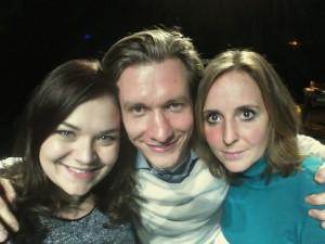 Een 'selfie' door Charlotte Janssen, Vincent Spoeltman en Florieke Beelen.