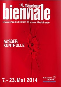 Brochure van de veertiende editie van de Münchener Biennale.