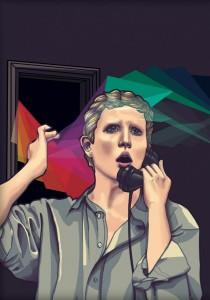 Poster van La voix humaine, alleen vanavond (19 mei) nog te zien bij de Operadagen Rotterdam.
