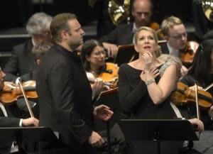 Joseph Calleja en Joyce DiDonato in Maria Stuarda (Deutsche Oper Berlin, Konzertante Premiere am 4. Juni 2014, copyright: Bettina Stöß).