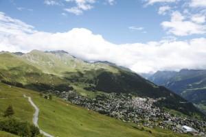 Verbier, gezien vanaf Savoleyres, een kabelbaanstation op ruim 2.300 meter.