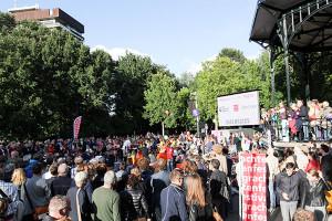 Met 'Ballroom in the Park' in het Oosterpark sloot het Grachtenfestival op zondag 24 augustus zijn zeventiende editie af (foto: Jeroen van Zijp).