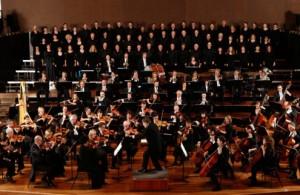 Het Melbourne Symphony Orchestra onder Sir Andrew Davis (foto: Lucas Dawson).