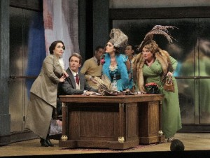 Scène uit Der Schauspieldirektor (foto: Ken Howard / Santa Fe Opera).