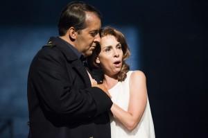 Richard Bauer en Kamila Benhamza (foto: Opera på Skäret).