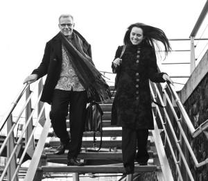 Componist Rob Zuidam en sopraan Katrien Baerts (foto: Annelies van der Vegt).