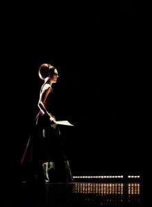 Maartje Rammeloo in het toneelstuk Master Class, waarin ze de 'leerling van Maria Callas' speelde (foto: Rudy Hellewegen).