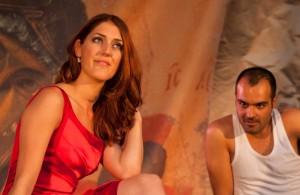 Maartje Rammeloo in The Tsar, His Wife, Her Lover and His Head, een opera van Monique Krüs die tijdens het Grachtenfestival 2013 werd uitgevoerd (foto: Ronald Knapp).