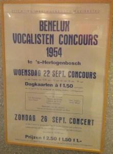 Poster van het eerste IVC in 1954