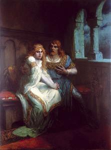 Lohengrin op een schilderij van Ferdinand Leeke.