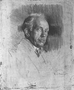 Portret van Richard Strauss, door Ferdinand Schmutzer (1870-1928).