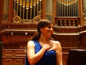 El-Khoury na afloop van haar optreden als Rusalka in de NTR ZaterdagMatinee in het Concertgebouw, mei 2014.