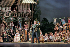 Johannes Martin Kränzle in Die Meistersinger von Nürnberg (foto: Ken Howard / Metropolitan Opera).