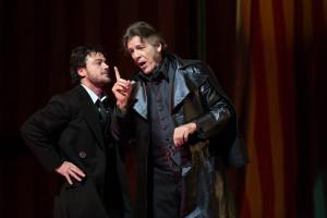 Vittorio Grigolo en Thomas Hampson in Les contes d'Hoffmann (foto: Marty Sohl / Metropolitan Opera).