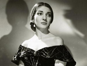 Maria Callas als Violetta in 1958 (foto: Houston Rogers).
