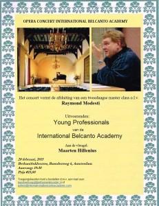 Belcanto Academy Concert februari 2015