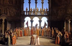 Scène uit Otto Schenks productie van Tannhäuser (foto: Marty Sohl / Metropolitan Opera).