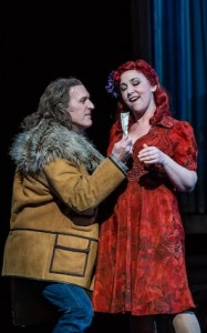 Kurt Streit en Christine Rice in Rise and Fall of the City of Mahagonny (foto: Clive Barda / ROH).