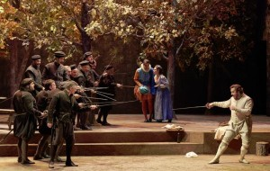 Scène uit Le pré aux clercs (foto: Pierre Grosbois / Opéra Comique).