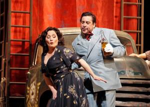 Patricia Racette en Marcelo Álvarez in Pagliacci (foto: Cory Weaver / Metropolitan Opera).