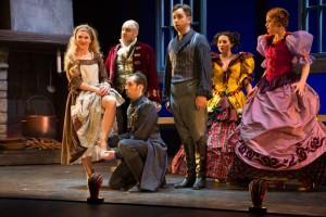 Scène uit La Cenerentola bij Opera Zuid (foto: Morten de Boer, Den Haag).
