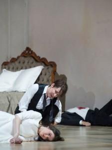 Olga Kulchynska en Joyce DiDonati in I Capuleti e i Montecchi (foto: Monika Rittershaus).