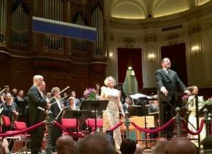 Sampson in het Concertgebouw in Amsterdam.