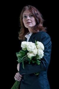 Larmore als Gräfin Geschitz bij het Royal Opera House in Londen.
