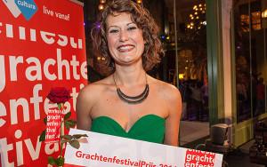 Rosanne van Sandwijk ontving vorig jaar de GrachtenfestivalPrijs en is dit jaar artist in residence (foto: Jeroen van Zijp).